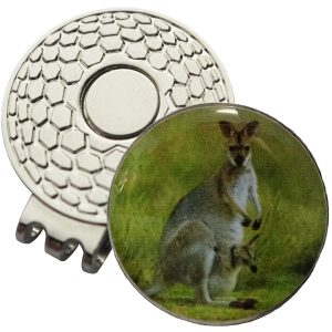 Golf Ball Marker on Magnetic Hat Clip – Kangaroo