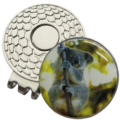 Golf Ball Marker on Magnetic Hat Clip – Koala