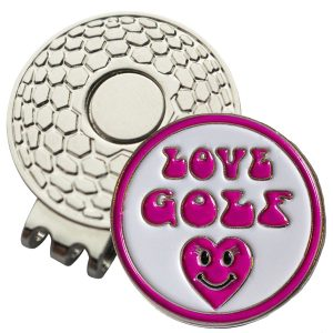 Golf Ball Marker on Magnetic Hat Clip – Love Golf