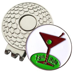 Golf Ball Marker on Magnetic Hat Clip – 19th Hole