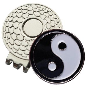 Golf Ball Marker on Magnetic Hat Clip – Yin Yang