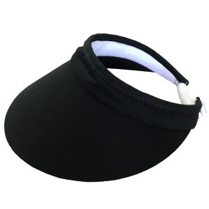 Ladies Wide Brim Visor – Black