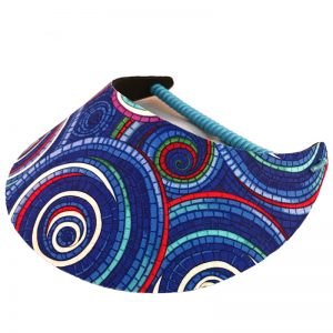 Ladies Blue Vortex Golf Visor