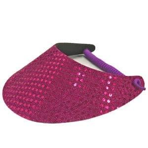 Ladies Golf Visor – Fuschia Pink Bling