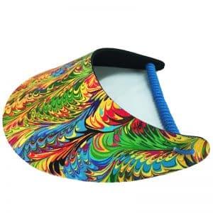 Ladies Splashed Colours Golf Visor