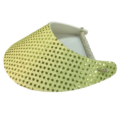 Ladies Yellow Bling Golf Visor