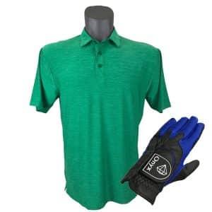 Onyx Sierra Mens Golf Shirt | Golf Polo | Green with FREE Onyx Golf Glove