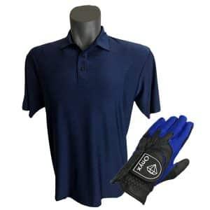 Onyx Sierra Mens Golf Shirt | Golf Polo | Navy with FREE Onyx Golf Glove