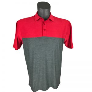 Onyx Sierra Mens Golf Shirt | Golf Polo | Red-Grey