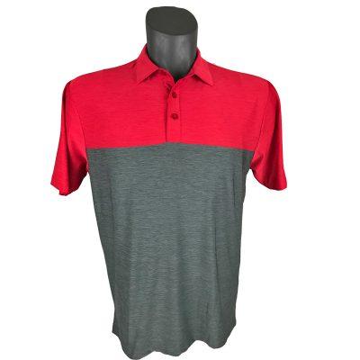 Onyx Sierra Mens Golf Shirt | Golf Polo | Red-Grey