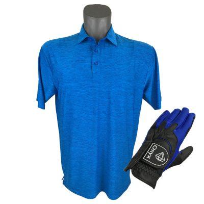 Onyx Sierra Mens Golf Shirt   Golf Polo   Royal with FREE Onyx Golf Glove