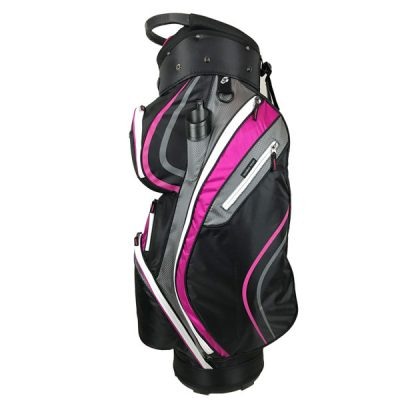 Ladies Onyx Spyder Golf Bag – Hot Pink-Black-Grey