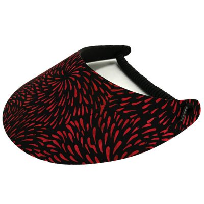 Ladies Golf Visor – Red Embers
