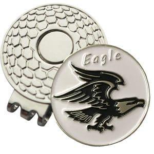 Golf Ball Marker on Magnetic Hat Clip – Eagle