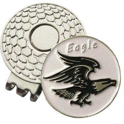 Golf Ball Marker on Magnetic Hat Clip – Eagle