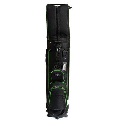 Onyx Roller Golf Travel Bag on Wheels – Black/Green