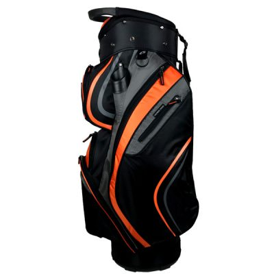 Onyx Spyder Golf Bag – Black-Orange-Grey