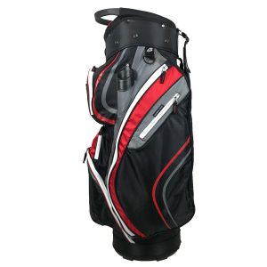 Onyx Spyder Golf Bag – Black-Grey-Red