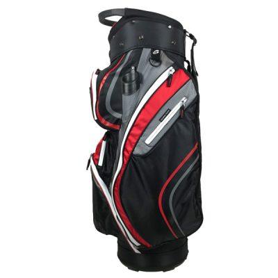 Onyx Spyder Golf Bag – Black-Grey-Red