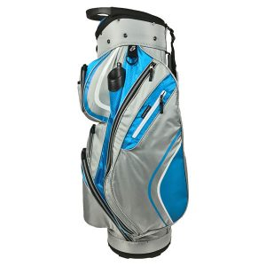 Onyx Spyder Cart Bag – Aqua-Silver-White