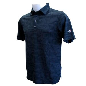 Crest Link Men's Golf Polo – 80-1253 – Black – Sml