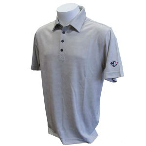 Crest Link Men's Golf Polo – 80-1253 – Grey – Lge