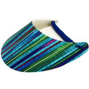 Ladies Golf Visor – Cosmic Lines