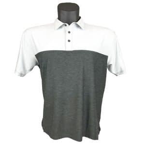 Onyx Sierra Mens Golf Shirt | Golf Polo | Ivory-Grey