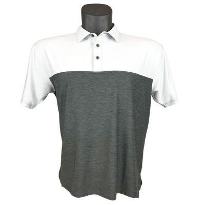 Onyx Sierra Mens Golf Shirt | Golf Polo | Ivory-Grey