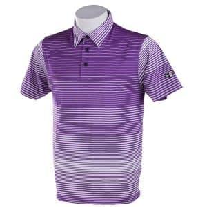 Crest Link Men's Golf Polo – 80-A1168 Purple-White XL