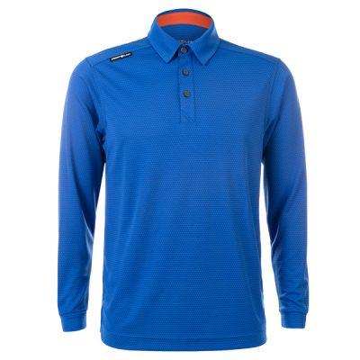 Crest Link Mens Long Sleeve Golf Shirt | Golf Polo | Royal Blue XXL