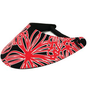 Ladies Golf Visor – Red Scribbles