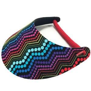 Ladies Golf Visor – Zig-Zag Dots