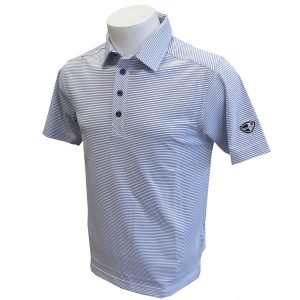 Crest Link Men's Golf Polo – 80-1265 White-Blue XL