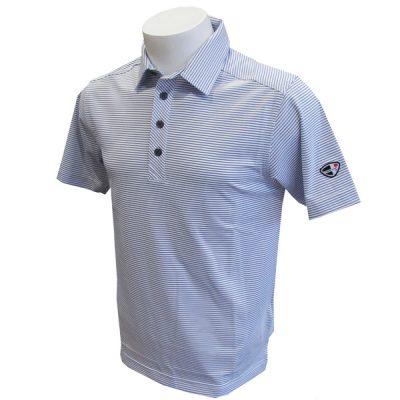 Crest Link Men's Golf Polo – 80-1265 White-Blue