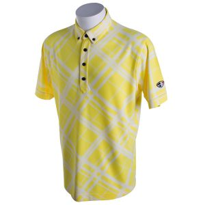Crest Link Men's Golf Polo – 80-1271 Yellow-White