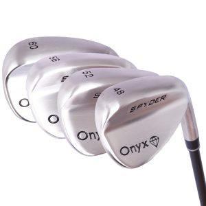 Onyx Spyder Bite 4 Pce Wedge Set with Steel Shafts