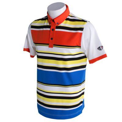 Crest Link Men's Golf Polo – 80-1290 – Multi-Coloured – L
