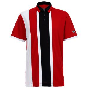 Crest Link Men's Golf Polo – 80380675 Red-Black-White