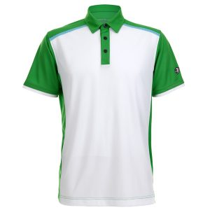 Crest Link Men's Golf Polo – 80380678 White-Lime Green