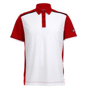 Crest Link Men's Golf Polo – 80380678 White-Red-Black – Medium