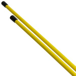Golf Alignment Sticks Training Aid 2 Pack Yellow