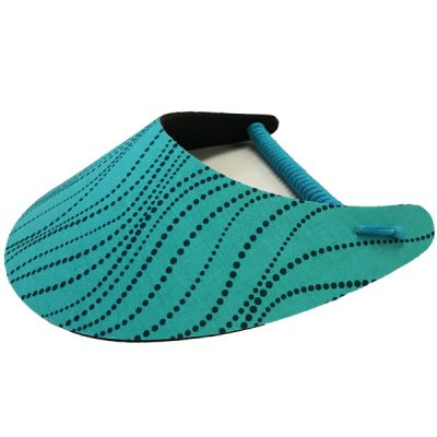 Ladies Golf Visor – Aqua Scribbly Dots
