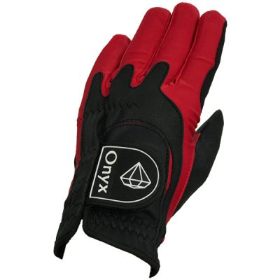 Onyx Perfect Fit Junior | Kids Golf Glove | LH One-Size | Black-Red