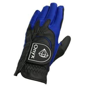 Onyx Perfect Fit Junior | Kids Golf Glove | LH One-Size | Black-Blue