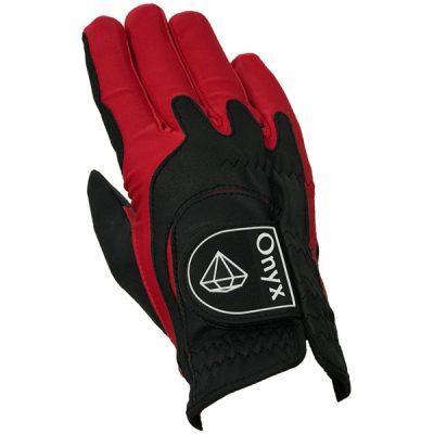 Onyx Perfect Fit Junior | Kids Golf Glove | RH One-Size | Black-Red