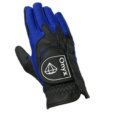 Onyx Perfect Fit Junior | Kids Golf Glove | RH One-Size | Black-Blue